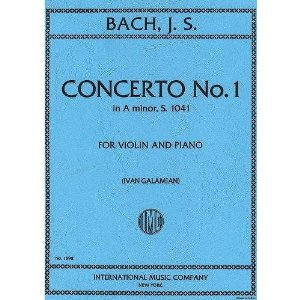 Bach, J.S. - Concerto No. 1 in a minor BWV 1041 for Violin and Piano - by Galamian - International